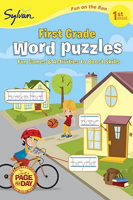 First Grade Word Puzzles (Sylvan Fun on the Run Series) Cover