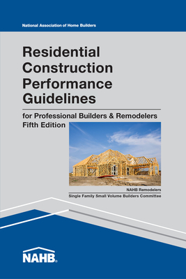 Residential Construction Performance Guidelines, Contractor Reference Cover Image