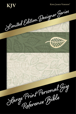 Cover for KJV Large Print Personal Size Reference Bible, Designer Series, Linen Leaves, LeatherTouch