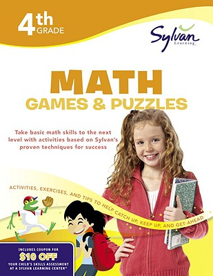 4th Grade Math Games & Puzzles Cover