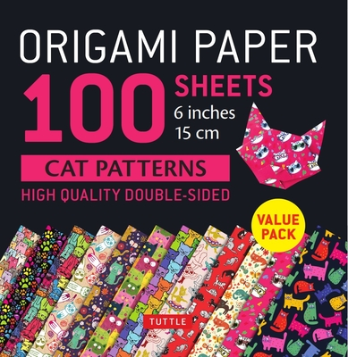 Origami Paper 100 Sheets Cat Patterns 6 (15 CM): Tuttle Origami Paper: High-Quality Double-Sided Origami Sheets Printed with 12 Different Patterns: In Cover Image