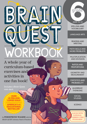 Brain Quest Workbook: Grade 6 (Brain Quest Workbooks) Cover Image