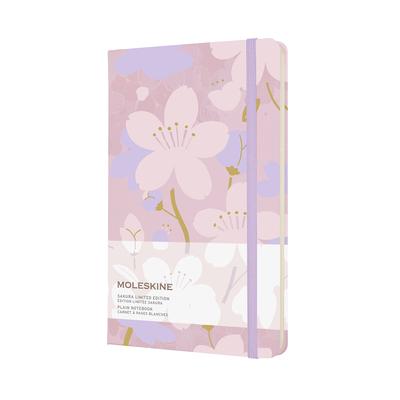 Moleskine Limited Edition Sakura Notebook, Large, Plain, Pink/Purple, Hard Cover (5 x 8.25) Cover Image