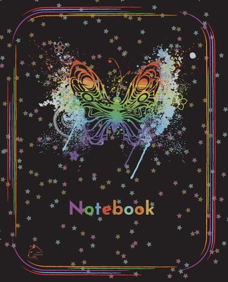 College Notebook: Student notebook Journal Diary Rainbow cloud butterfly design cover notepad by Raz McOvoo Cover Image