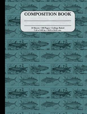 Composition Notebook: College Ruled - Vintage Blue Fish: Great Composition Book for School Cover Image
