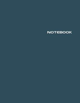 Notebook: Lined Notebook Journal - Stylish Midnight Blue - 120 Pages - Large 8.5 x 11 inches - Composition Book Paper - Minimali Cover Image