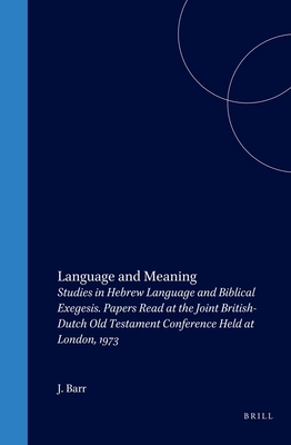 Cover for Language and Meaning