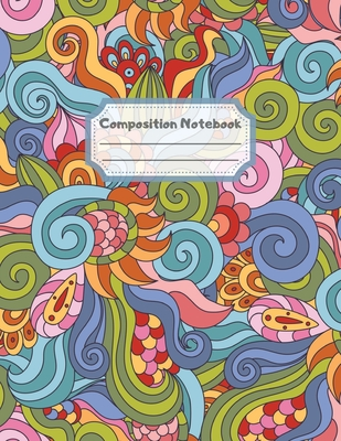 Composition Notebook: Wide Ruled Lined Paper: Large Size 8.5x11 Inches, 110 pages. Notebook Journal: Hypnotic Kaleidoscopic Mandala Workbook Cover Image