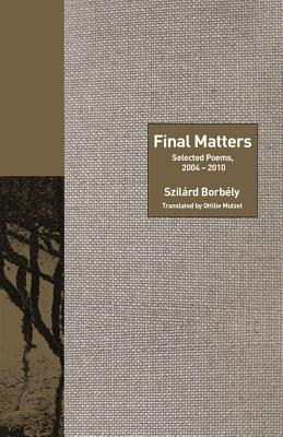 Final Matters: Selected Poems, 2004-2010 cover image