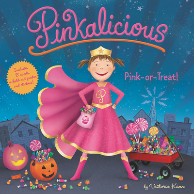 Pinkalicious: Pink or Treat!: Includes 8 Cards, a Fold-Out Poster, and Stickers! Cover Image