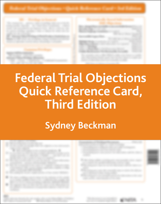 Federal Trial Objections Reference Card Cover Image