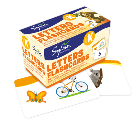 Pre-K Letters Flashcards: 240 Flashcards for Building Better Letter Skills Based on Sylvan's Proven Techniques for Success (Sylvan Language Arts Flashcards) Cover Image