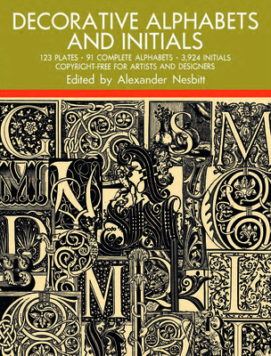 Decorative Alphabets and Initials (Dover Pictorial Archives) Cover Image