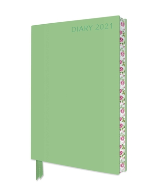 Pale Mint Green Artisan A5 Diary 2021 Cover Image