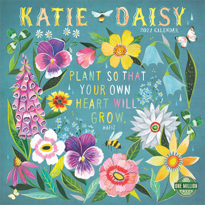Katie Daisy 2021 Wall Calendar Cover Image