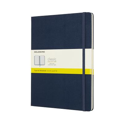 Moleskine Classic Notebook, Extra Large, Squared, Blue Sapphire, Hard Cover (7.5 x 9.75) Cover Image
