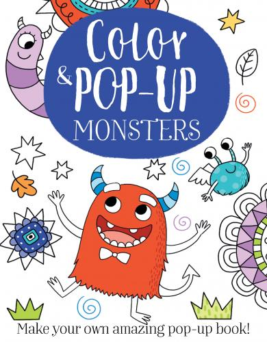 Color & Pop-up Monsters Cover Image