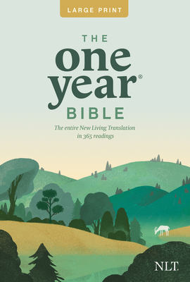 One Year Premium Slimline Bible-NLT-Large Print 10th Anniversary Cover Image