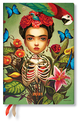 Paperblanks 2021 Frida MIDI 12-Month-Flexis Cover Image