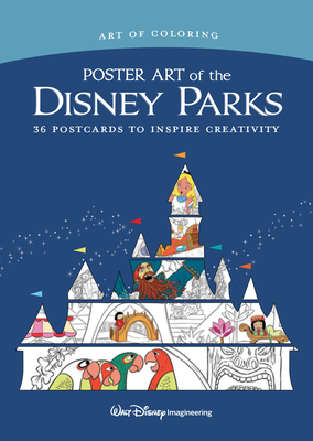 Art of Coloring: Poster Art of the Disney Parks: 36 Postcards to Inspire Creativity Cover Image