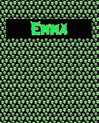 120 Page Handwriting Practice Book with Green Alien Cover Emma: Primary Grades Handwriting Book Cover Image