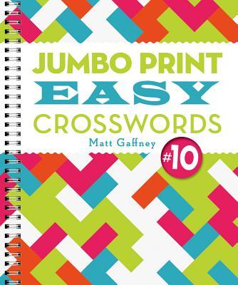 Cover for Jumbo Print Easy Crosswords #10 (Large Print Crosswords)