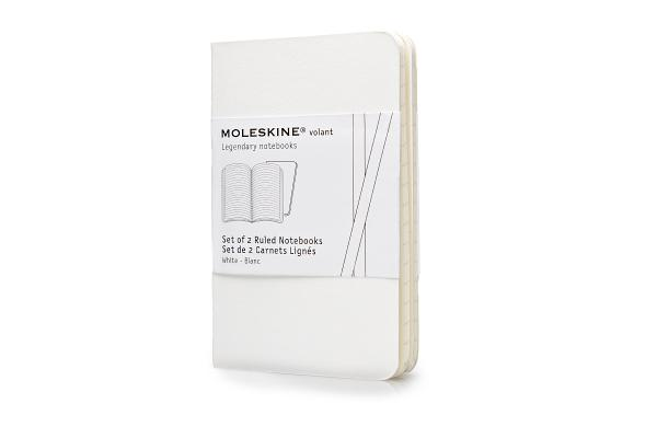 Moleskine Volant Notebook (Set of 2 ), Extra Small, Ruled, White, Soft Cover (2.5 x 4) (Volant Notebooks) Cover Image