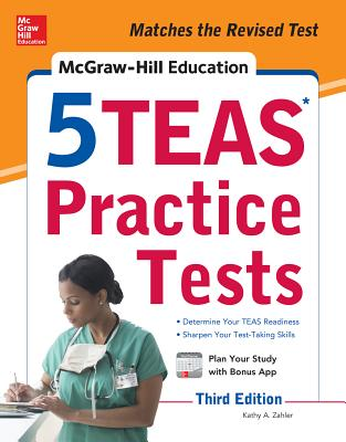 McGraw-Hill Education 5 Teas Practice Tests, Third Edition Cover Image