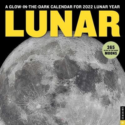 Lunar 2022 Wall Calendar: A Glow-in-the-Dark Calendar for 2022 Lunar Year Cover Image