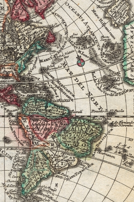 Cover for 1762 Map of South America and North America - A Poetose Notebook / Journal / Diary (50 pages/25 sheets)