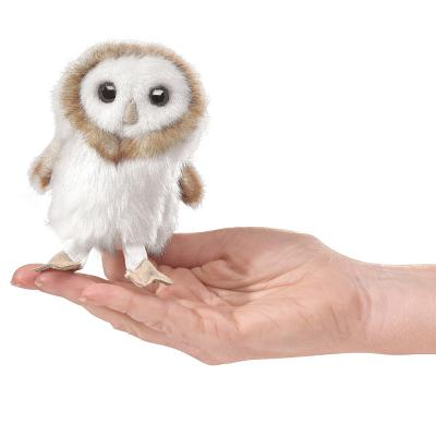 Mini Barn Owl Finger Puppet Cover Image