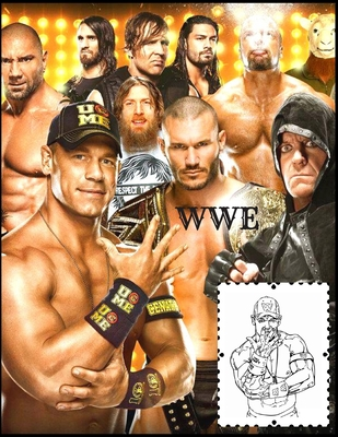 Wwe: Coloring Book for Kids and Adults with Fun, Easy, and Relaxing High-quality images Cover Image