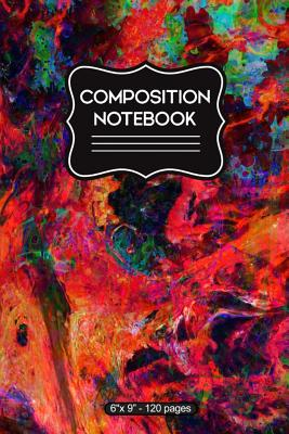 Composition Notebook: Multicolored Marble Magma - 6