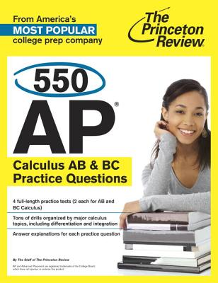 550 AP Calculus AB & BC Practice Questions Cover Image