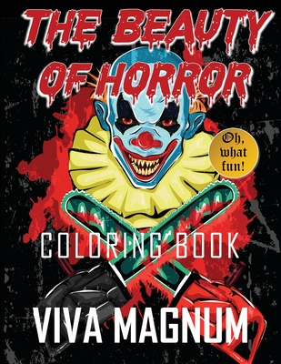 The Beauty of Horror Coloring Book Cover Image