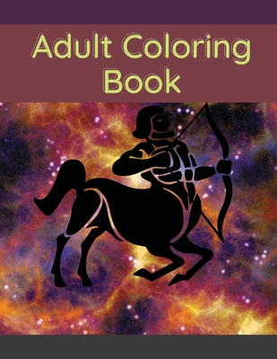 Adult Coloring Book: Stress Relieving Animal Designs Cover Image