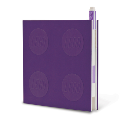 Lego 2.0 Locking Notebook with Gel Pen - Lavender Cover Image