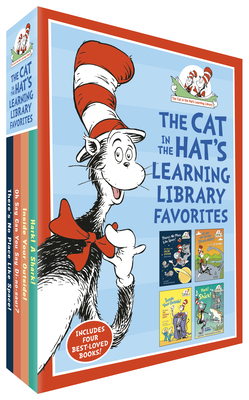 The Cat in the Hat's Learning Library Favorites: There's No Place Like Space!; Oh Say Can You Say Di-no-saur?; Inside Your Outside!; Hark! A Shark! Cover Image