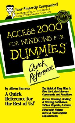 Access 2000 for Windows for Dummies Quick Reference Cover Image
