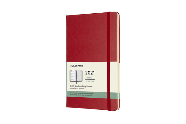 Moleskine 2021 Weekly Planner, 12M, Large, Scarlet Red, Hard Cover (5 x 8.25) Cover Image