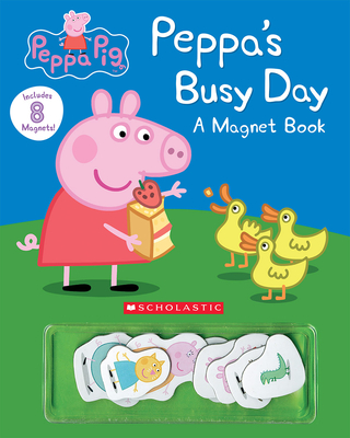 Peppa's Busy Day Magnet Book (Peppa Pig) Cover Image