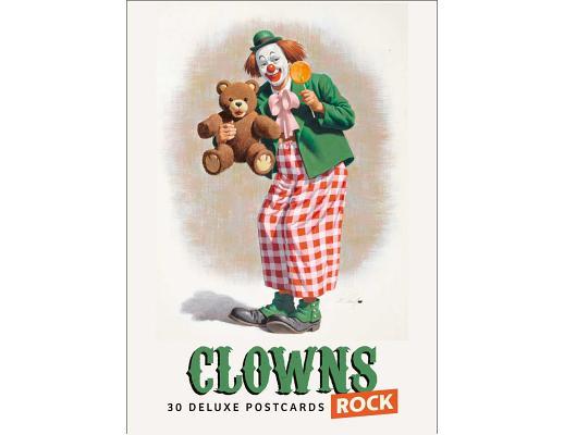 Clowns Rock: 30 Deluxe Postcard Set Cover Image