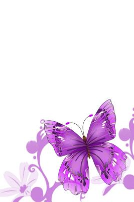 Diabetic Log Book: Portable Blood Glucose Chart, Daily Diary - Small Notebook - Purple Butterfly Cover Image