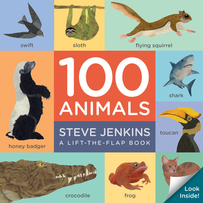 100 Animals (lift-the-flap padded board book) Cover Image