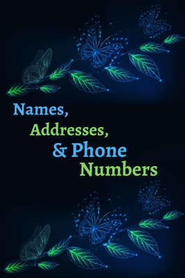 Names, Addresses, & Phone Numbers: Address Book With Alphabet Index ( Small Tabbed Address Book ). Cover Image