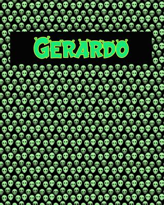 120 Page Handwriting Practice Book with Green Alien Cover Gerardo: Primary Grades Handwriting Book Cover Image
