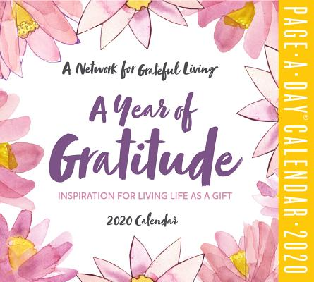 A Year of Gratitude Page-A-Day Calendar 2020 Cover Image