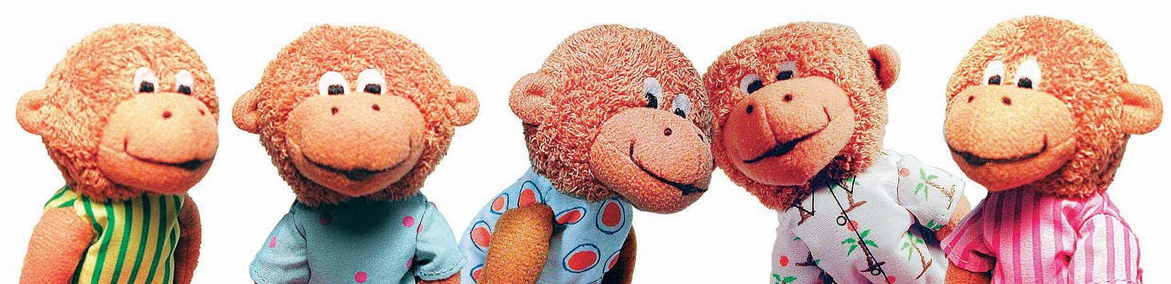 Puppet-5 Little Monkeys Finger (Five Little Monkeys) Cover Image