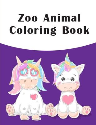 Zoo Animal Coloring Book: picture books for children ages 4-6 (Children's Art #10) Cover Image