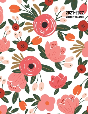 2021-2022 Monthly Planner: Large Two Year Planner with Beautiful Coloring Pages (Volume 1) Cover Image